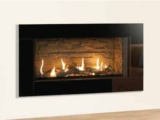 The Eclipse Expression is a versatile frame that can fit in with a wide spectrum of interior styles. Available in Graphite or a choice of three stunning metallic colour options, the deep profile of the Expression frame has a smooth, geometric design which perfectly captures the large flame picture and realistic log-effect fuel bed. A perfect finish to an already incredible focal point.