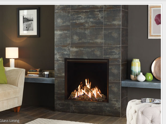 Reflex 75T Gas Fire - Please refer to efficiency labels for the efficiency rating.