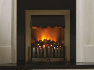 D75 Electric Fire - Available in Antique brass, black, brass or chrome - Price £604