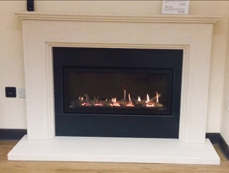 Studio Slimline -  Prices from £1,895 inc VAT Shown in Ludlow limestone with granite fireplace - Prices from £1,335 inc VAT