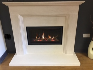 Studio Slimline - Prices from £2,095 inc VAT  shown in limestone fireplace Prices from £999 inc VAT