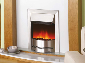 D21 Electric Fire - Stainless steel effect finish only