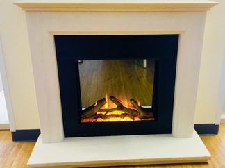 "Gotham 600 Electric Fire - Prices from £799 (shown with 48"" Chamberlyne Fireplace)"