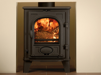 Stockton 3 Multi-fuel Stove - multi-fuel (with external riddling) cleanburn airwash flat top maximum heat output - 3.75kW no room vent required top or rear flue outlets choice of colour finishes stove size 510mm h x 389mm w x 338mm d Prices from £649 inc