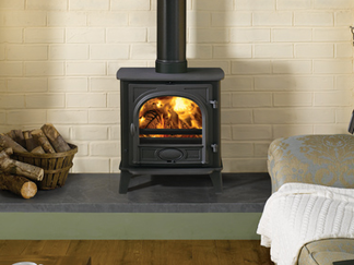 Stockton 7 Multi-Fuel Stove - Multi-fuel (with external riddling) woodburning version also available cleanburn airwash flat top maximum heat output - 7kW boiler option top or rear flue outlets choice of colour finishes stove size 580mm h x 385mm d - Prices from £1,049 inc