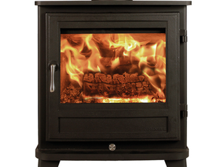 Alpine 4 Woodburner- The Alpine stove with its imaginative retro styling is quite unique. Nickel plated ornamentation and rounded lines combine to create a stove that is visually stunning. In black - Prices from £1,350.00 inc Optional colours; Atlantic, Sage, Terracotta, Ivory & Silver for an additional cost
