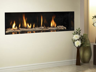 Kinder Eden HE - High Efficiency Hole in the wall Gas Fire Specification:  Safety Flame Supervision Device (FSD), Oxygen Depletion Sensor (ODS) Type of Heat Radiant & Convected Heat Input High 6.9 kW Heat Input Low 3.5 kW Heat Output High 5.2 kW Heat Output Low 2.0 kW Air Vent required Not normally Builders Opening Sizes Height: (min) 310 mm (max) 555 mm Width: (min) 790 mm (max) 835 mm