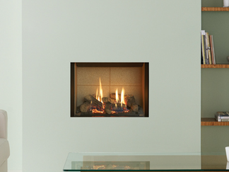 "The Riva2 500 Edge gas fire creates a chic, minimalist look whilst simultaneously bringing a focus to the beautiful flames and glowing ember bed of this highly efficient gas fire.  The simple, clean lines of this 'hole in the wall' fire can be further enhanced by creating a feature wall from Gazco's carefully selected range of fireplace tile surround packages.  This contemporary collection of porcelain and natural stone tiles are the perfect complement to the modern aesthetics of the Riva2 500 Edge gas fire and an ideal way to redress a standard 22"" wide fireplace opening.  Additionally, choose from one of three lining choices, each is designed to provide a different look for your fire and offers you more versatility to achieve the look that's ri"