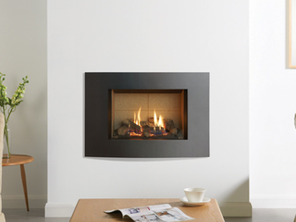 Riva2 500 Verve XS- The compact proportions of the high efficiency Riva2 500 Verve XS gas fire has been thoughtfully designed with its horizontal curve and smart Graphite finish. Forming the perfect contemporary counterbalance of the traditional aesthetics of a highly realistic log-effect fire, the Riva2 500 Verve XS gas fire can be tailored to your own particular preference by choosing from one of three distinctly different fire linings in either chic brick effect, light vermiculite or smart black reeded. You can further customise your gas fire and add a splash of colour to your living room by choosing one of the four additional colour options for your frame; Metallic Red, Metallic Blue, Metallic Bronze or Ivory.  Linings: Vermiculite, Brick Effect and