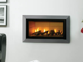Studio 1 Fire - Single ribbon of living flame White pebble fuel bed Ultra-contemporary styling Choice of frame finishes (Anthracite or Polished Stainless Steel) 1.72 - 3.3kW heat output - open fronted fire 4.85 - 6.8kW heat output - glass fronted fire Operation via Sequential remote control (ignition and flame height) or via electronic touch pad discreetly located in the fire's front plate Suitable for Class 1 and 2 chimneys Balanced Flue model also available Studio 1 conventional flue