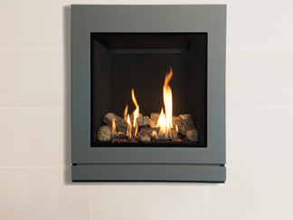 Built-in gas fire up to 6.6kW heat output Spectrum 53 2.25kW - 5.3kW heat output Spectrum 67: 2.5kW - 4.9kW heat output Spectum 70 2.7kW - 6.5kW heat output  click bullet to close. upto 84% efficiency spectrum 53: 72% efficiency spectrum 53 Balanced flue: 73% efficiency  Spectrum 67 72% efficiency spectrum 67 balanced flue: 75% efficiency spectrum 70 balanced flue:84% efficiency the all new riva spectrum combines a bold new frame design with the superb heating efficiency that the glass fronted riva range can offer. Available in landscape 67 and 70 sizes, complete with realistic log effect fires or in the portrait 53 size that features an authentic driftwood fire. Whatever your choice the spectrum's stylis