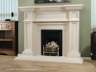 "Azores. Available either 54"" or 60"" wide. An impressive period style fireplace that will give grandeur to any room it graces. A striking design with fine detail that is sure to impress. 54"" Price £2,274 60"" Price £2,374"