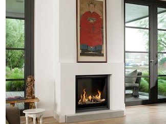 Unica-2 75 Gas Fire - Energy Efficiency Rate D - Please refer to Efficiency Labels