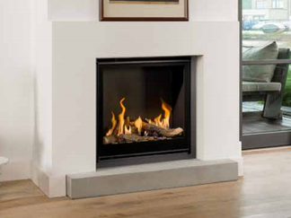 Unica-2 75 Gas Fire - Energy Efficiency Rating D - Please refer to Efficiency Labels