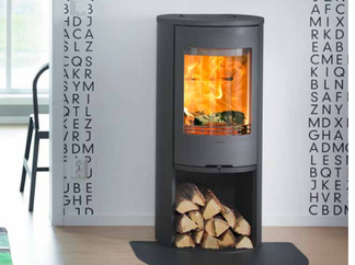 Contura 810 - black or grey. 5kw output woodburner rear or top outlet, Height 915mm Width 460mm Depth 360mm - Prices from £1,445 inc
