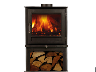 Chesneys 5kw stove with log store