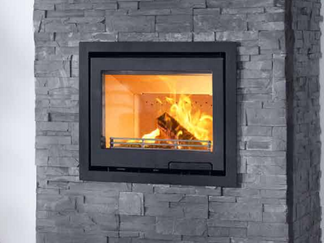 Contura i6, cast iron frame and door,  is our new insert which is ideal for those who have their own ideas and want to design their own fireplace. The generous glass area shows a lot of the flames. The efficient combustion technology gives more heat from the wood. Prices from  £1,495 inc