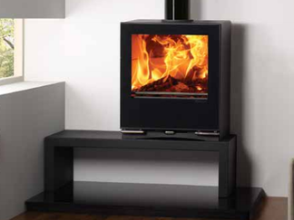 Riva Vision Medium - 9kw  multi-fuel stove Prices from £1,645 inc