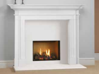 Riva 2 500 Gas Fire Balanced flue - Prices from £1,739 inc shown in Sandringham Mantel - Prices from £1,749 inc