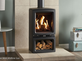 Gazco Vogue Midi Gas Stove, balanced flue